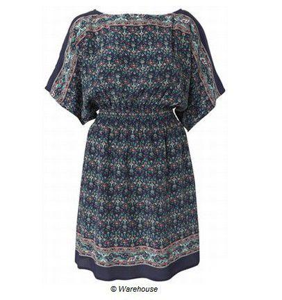 Yarasa kollu mini elbise